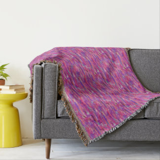 Purple and Pink Abstract Pattern Throw Blanket
