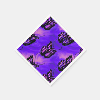 Purple and pink butterfly pattern party napkins disposable napkin