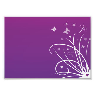 Purple and Pink Butterfly Swirl Photo Print