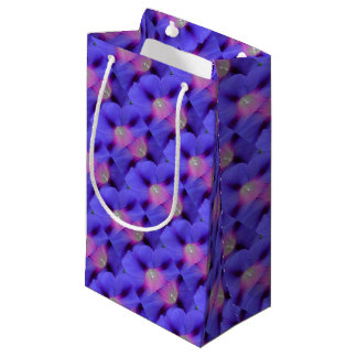 Purple and Pink Colored Morning Glory Flowers Clos Small Gift Bag