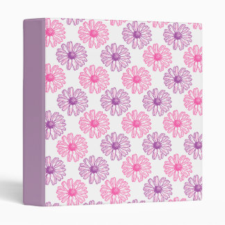 Purple and Pink Daisies Binders