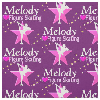 PURPLE AND PINK FIGURE SKATER FABRIC
