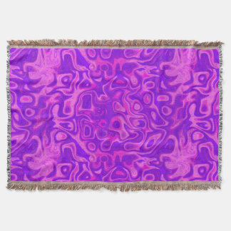 Purple and Pink Fire Stone Throw Blanket