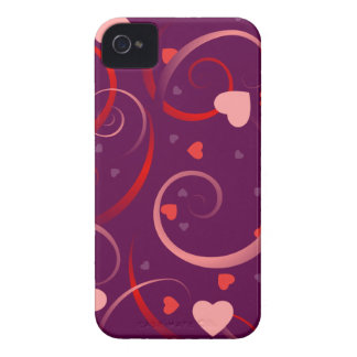 Purple and Pink Heart pattern iPhone 4 Case-Mate Case