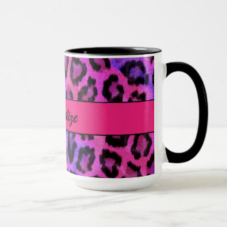 """Purple and Pink Leopard Print"" Mug"