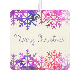 Purple and Pink Merry Chistmas Snowflakes Air Freshener