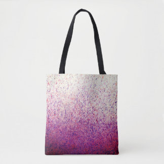 Purple and Pink Paint Splatter Tote Bag