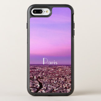 Purple and Pink Paris Destination Sunset OtterBox Symmetry iPhone 8 Plus/7 Plus Case