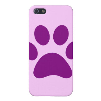 Purple and Pink Paw Print iPhone 4s Case iPhone 5/5S Case
