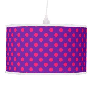 Purple and Pink Polka Dot Pendant Lamp