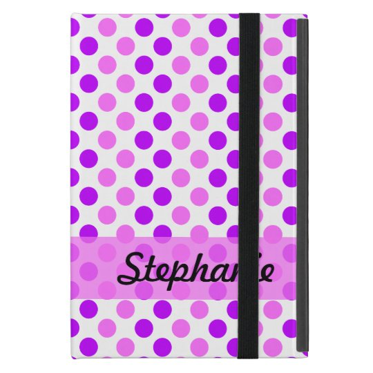 Purple and Pink Polka Dots Case For iPad Mini