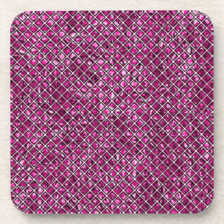Purple and Pink Stained Glass Coaster