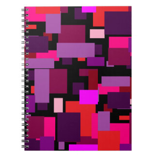 Purple and Pink Tile Notebook