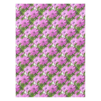Purple And Pink Tropical Daisy Flower Tablecloth