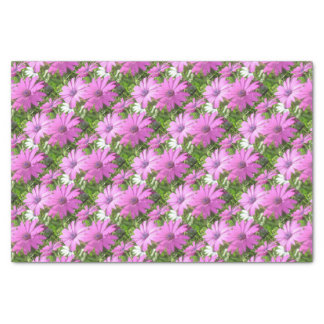Purple And Pink Tropical Daisy Flower Tissue Paper