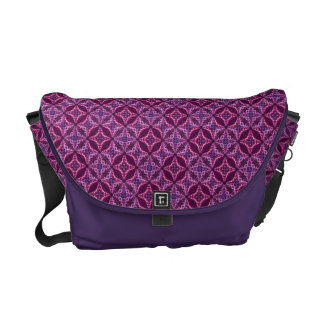 Purple And Pink Vintage Mosaic Pattern Courier Bags