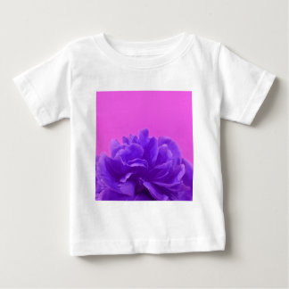 Purple and Raspberry Floral Art Baby T-Shirt