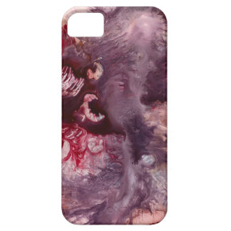 Purple and Red Abstract Art iPhone 5 Covers