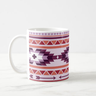 Purple and Red Aztec Coffee Mug