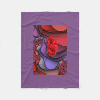 Purple and Red Fleece Blanket