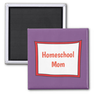 Purple and Red Homeschool Mom Magnet