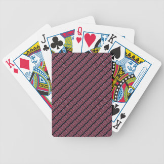Purple and Red Wave Bicycle Playing Cards