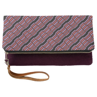 Purple and Red Wave Clutch