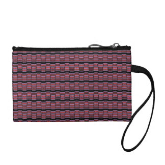 Purple and Red Wave Coin Purse
