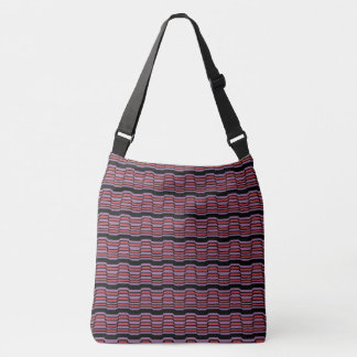 Purple and Red Wave Crossbody Bag