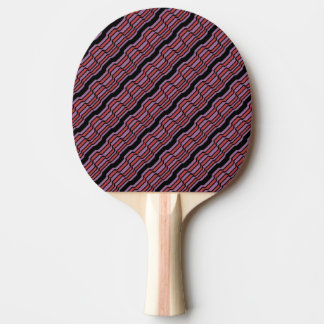 Purple and Red Wave Ping Pong Paddle