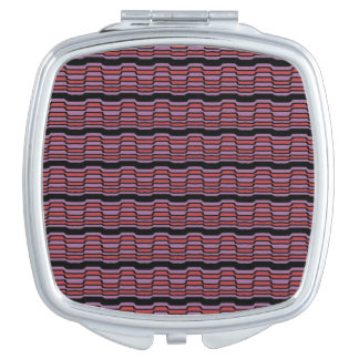 Purple and Red Wave Travel Mirror