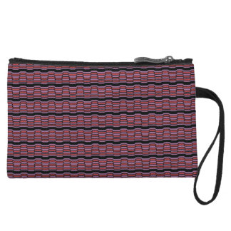 Purple and Red Wave Wristlet
