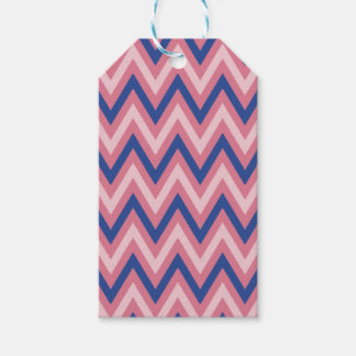 Purple and Shades of Pink Chevron Gift Tags