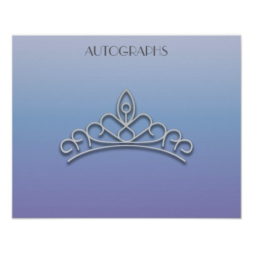 Purple and Silver Pageant Tiara Autograph Poster
