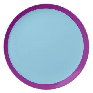 Purple and Sky Blue Plate