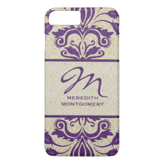 Purple and Taupe Damask | Custom Case