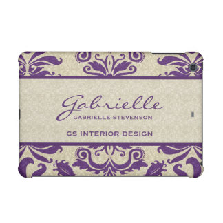 Purple and Taupe Damask | Custom Case iPad Mini Retina Covers