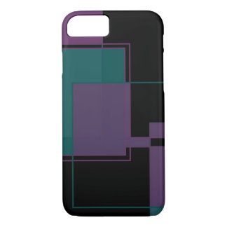 Purple and Teal iPhone 7 case