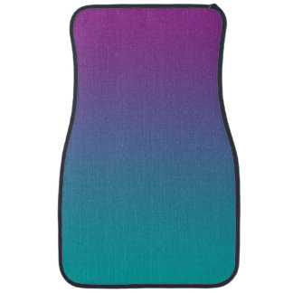 """Purple And Teal Ombre"" Floor Mat"