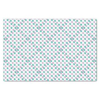 Purple and teal puppy paw prints tissue paper