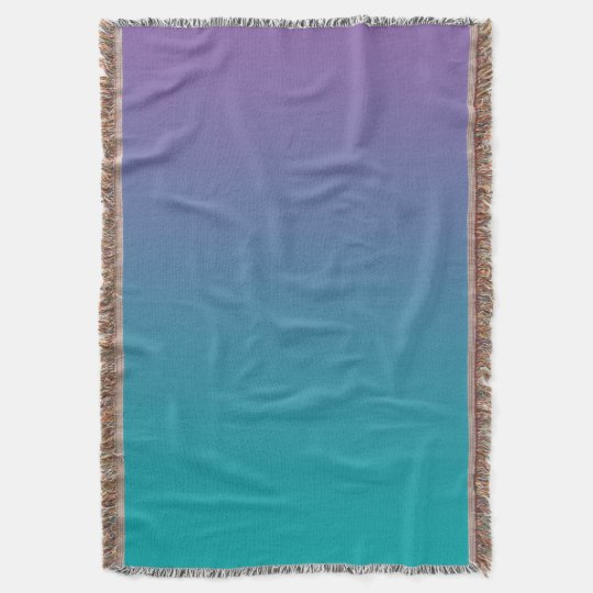 Purple And Teal Throw Blanket