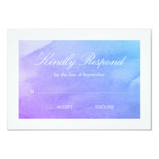Purple and Teal Watercolor RSVP Card