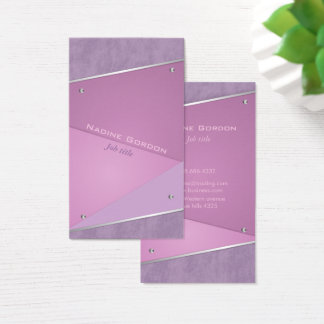 Purple and violet make-up artist business card