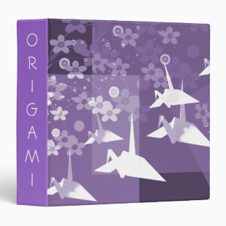 Purple and White Asian Art Avery Binder