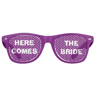 Purple and White Bride's Party Eye Glasses Party Sunglasses