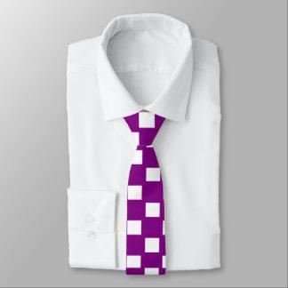 Purple and White Checkered Skinny Tie