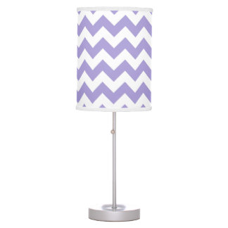 Purple and White Chevron Lamp