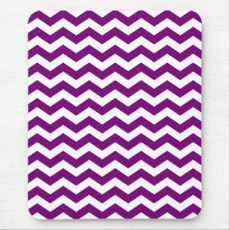 Purple and White Chevron Stripes Mousepad