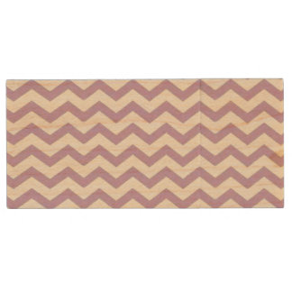 Purple and White Chevron USB Flash Drive