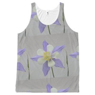 Purple and White Columbine All-Over-Print Tank Top